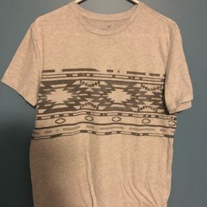 Used American Eagle Aztec print T- Shirt. Size M